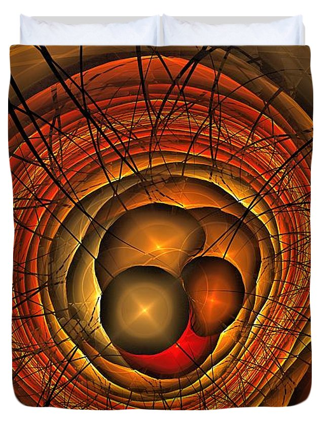 Catastrophe Duvet Cover featuring the digital art Apocolypse Growth Rings by Doug Morgan