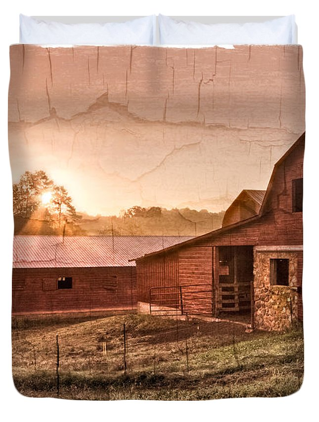 Appalachia Duvet Cover featuring the photograph Appalachian Barns by Debra and Dave Vanderlaan