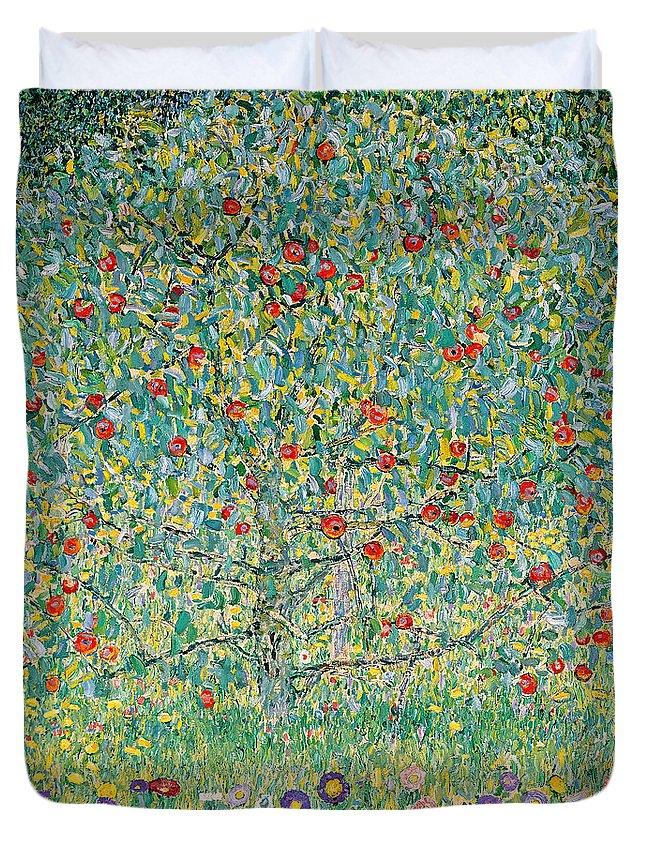 Gustav Klimt Duvet Cover featuring the painting Apple Tree I by Gustav Klimt