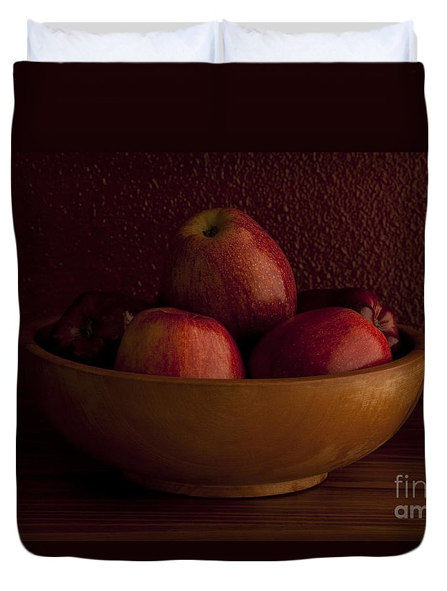 Apple Duvet Cover featuring the photograph Apples In Bowl Still Life by Jim Corwin
