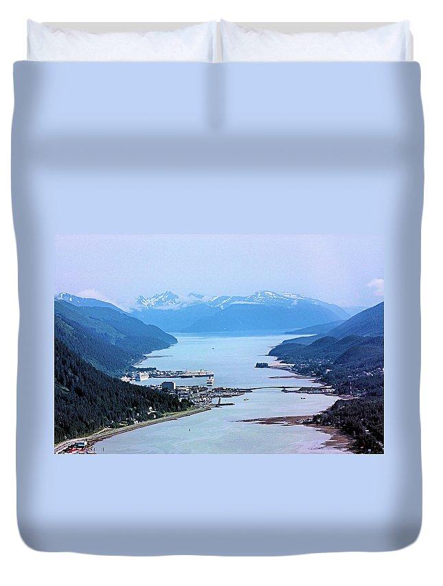 Juneau Duvet Cover featuring the photograph Approaching Juneau by Kristin Elmquist