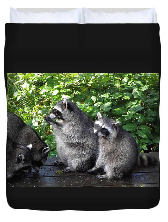Animals Duvet Cover featuring the photograph Apron Strings Not Cut by Kym Backland