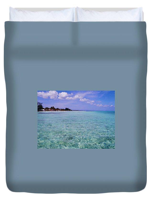 Aqua Duvet Cover featuring the photograph Aqua Blue by Carey Chen