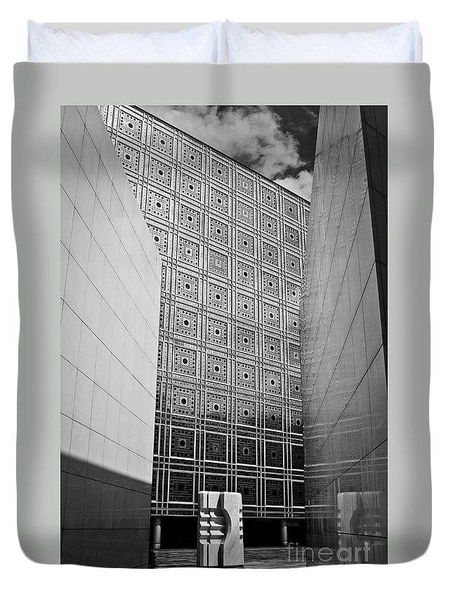 Arab World Institute Duvet Cover featuring the photograph Arab World Institute by Lana Enderle