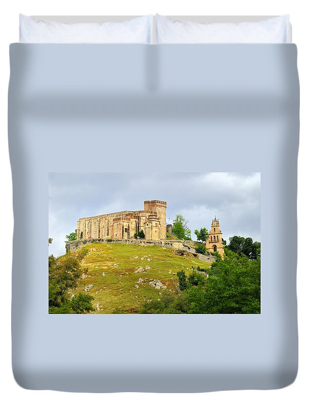 Palace Duvet Cover featuring the photograph Aracena Castle Sxiii by Guido Montanes Castillo
