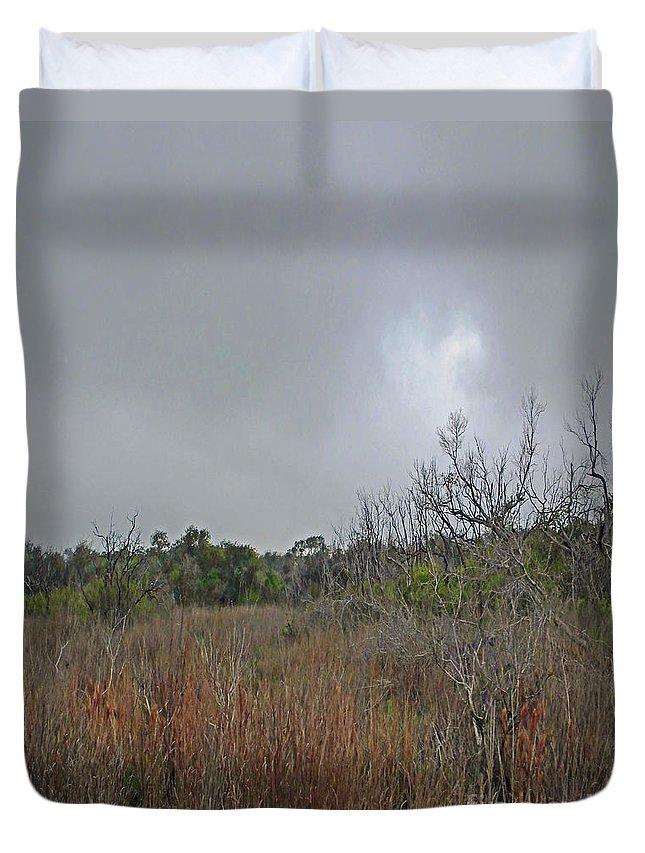 Refuge Duvet Cover featuring the photograph Aransas Nwr Texas Coastland by Lizi Beard-Ward