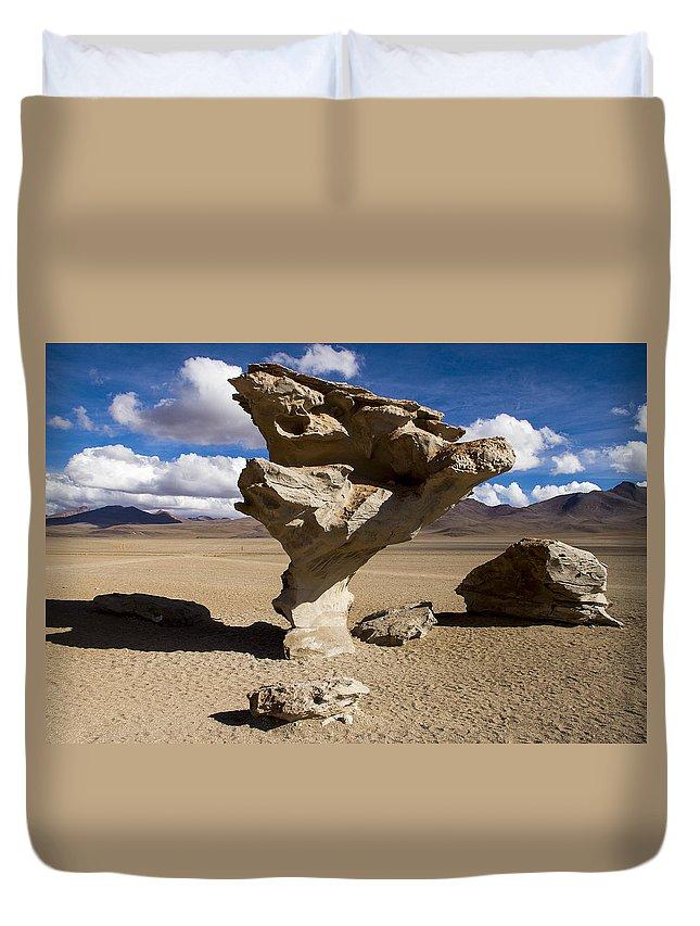 Árbol De Piedra Duvet Cover featuring the photograph Arbol De Piedra by For Ninety One Days