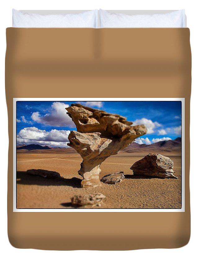 Árbol De Piedra Duvet Cover featuring the photograph Arbol De Piedra Select Focus by For Ninety One Days