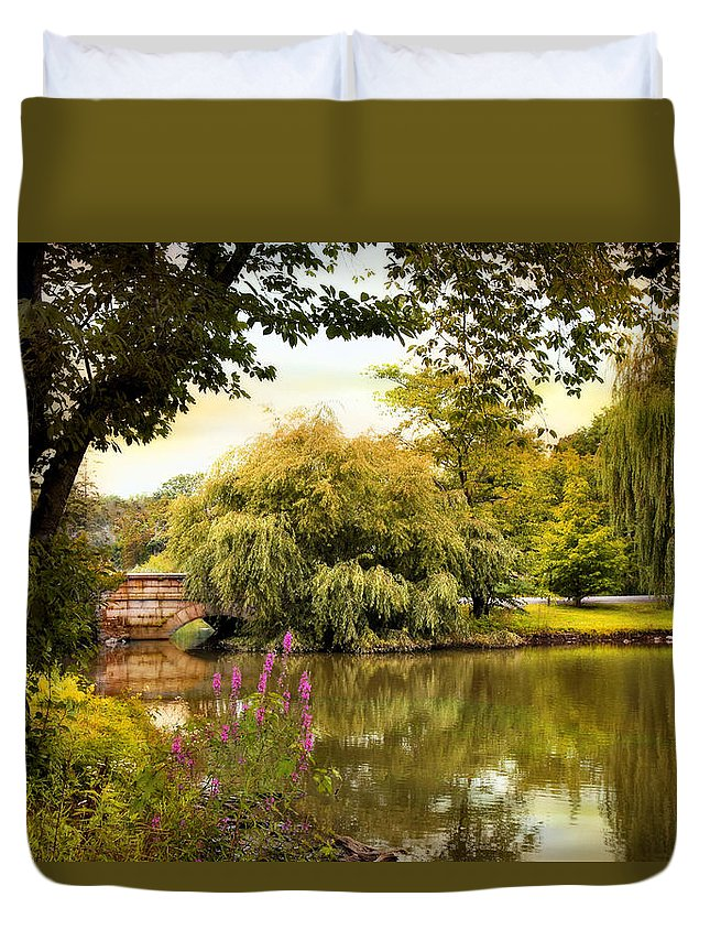 Woodlawn Cemetery Duvet Cover featuring the photograph Arcadian Splendor by Jessica Jenney
