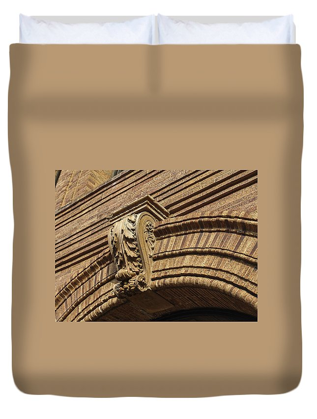 Embellishment Duvet Cover featuring the photograph Arch Key by Eric Swan