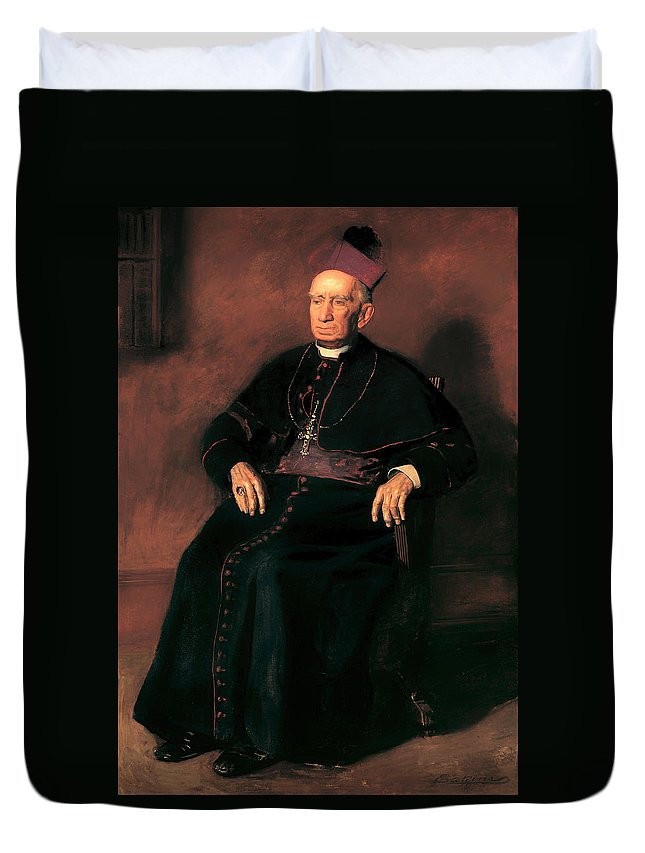 Painting Duvet Cover featuring the painting Archbishop William Henry Elder by Mountain Dreams