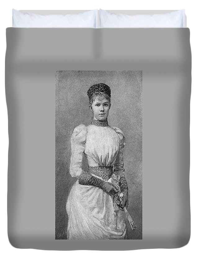19th Century Duvet Cover featuring the painting Archduchess Marie Valerie Of Austria by Granger