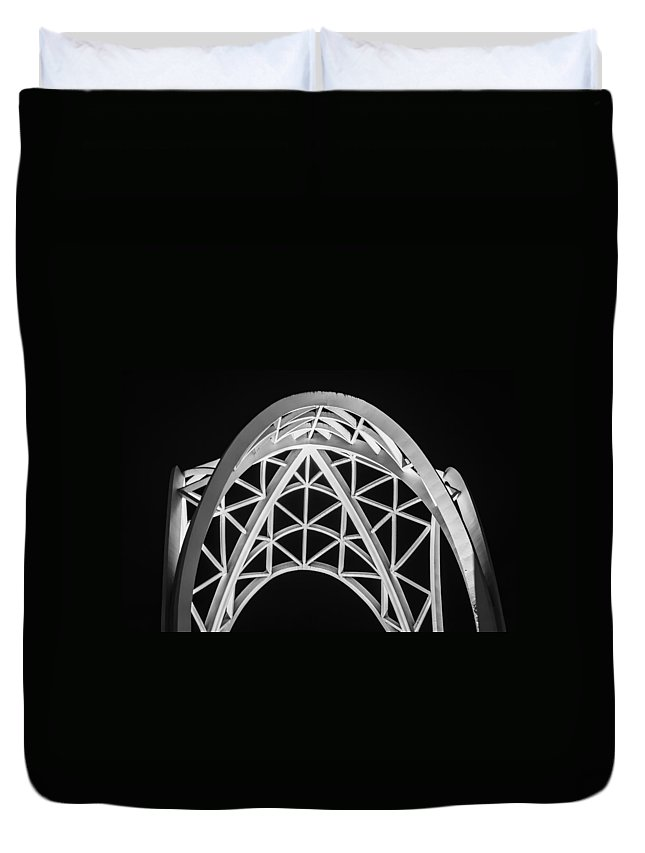 2008 Duvet Cover featuring the photograph Arches And Angles 2 by Melinda Ledsome