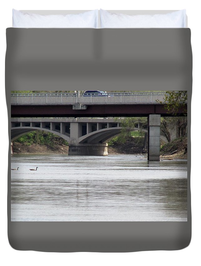 Arches Duvet Cover featuring the photograph Arches by Don Baker