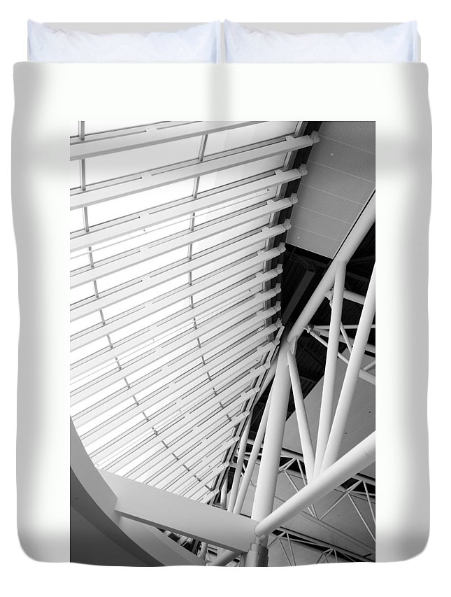 Interior Duvet Cover featuring the photograph Architectural Details by Alexey Stiop