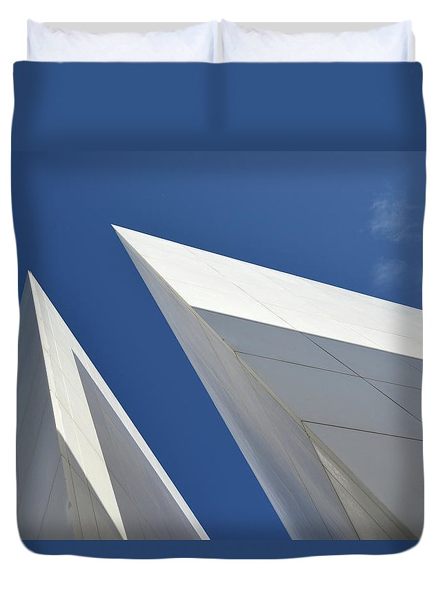 Tranquility Duvet Cover featuring the photograph Architectural Details by Martial Colomb
