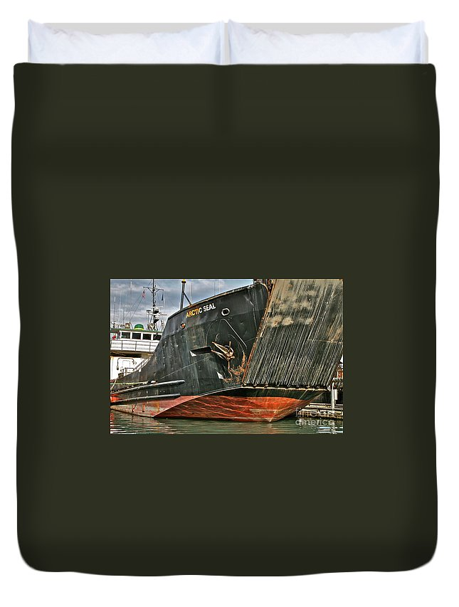 Boat Duvet Cover featuring the photograph Arctic Seal by Rick Monyahan