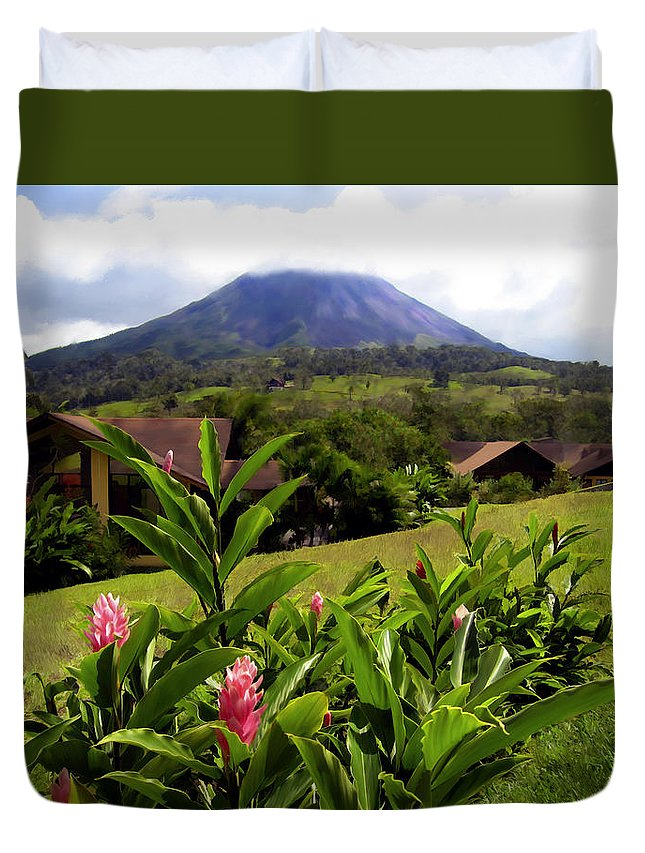 Tropical Duvet Cover featuring the photograph Arenal Costa Rica by Kurt Van Wagner