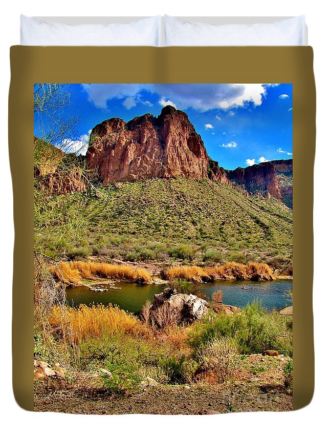 Arizona Duvet Cover featuring the photograph Arizona At Its' Best by Marilyn Smith