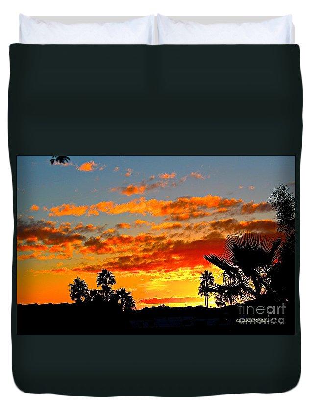 Arizona Duvet Cover featuring the photograph Beautiful Arizona Sunset by Barbara Zahno