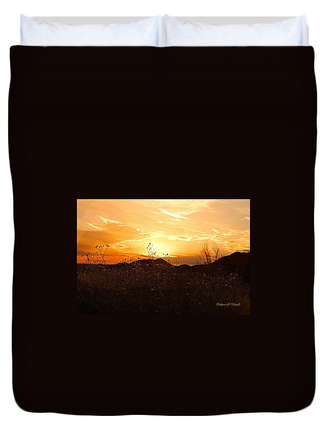 Arizona Duvet Cover featuring the photograph Arizona Sunset II by Barbara Zahno
