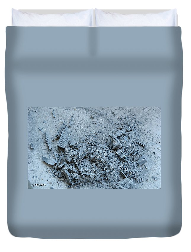Destruction Duvet Cover featuring the photograph Armageddon by George Pedro