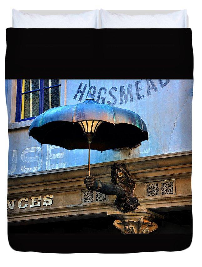 Umbrella Duvet Cover featuring the photograph Armbrella by David Lee Thompson