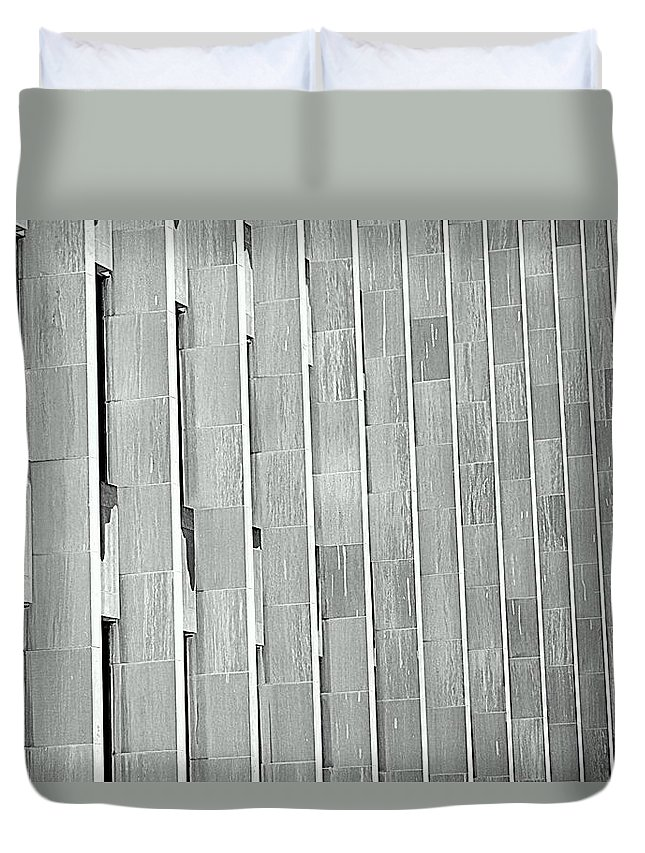 Army Duvet Cover featuring the photograph Army Of Pillars by Valentino Visentini