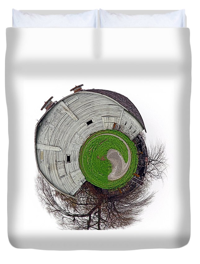 Landscape Duvet Cover featuring the photograph Around The Barn by Deb Buchanan