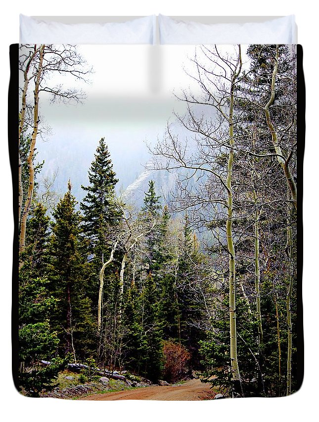 Colorado Landscape Duvet Cover featuring the photograph Around The Bend by Barbara Chichester