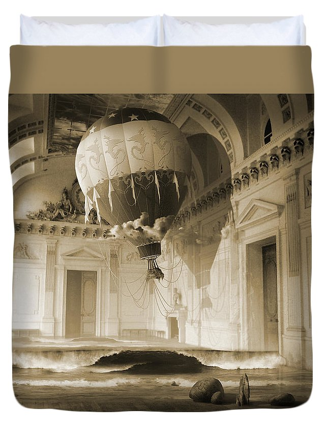 Balloon Duvet Cover featuring the digital art Arrested Expansion or Cardiac Arrest by George Grie