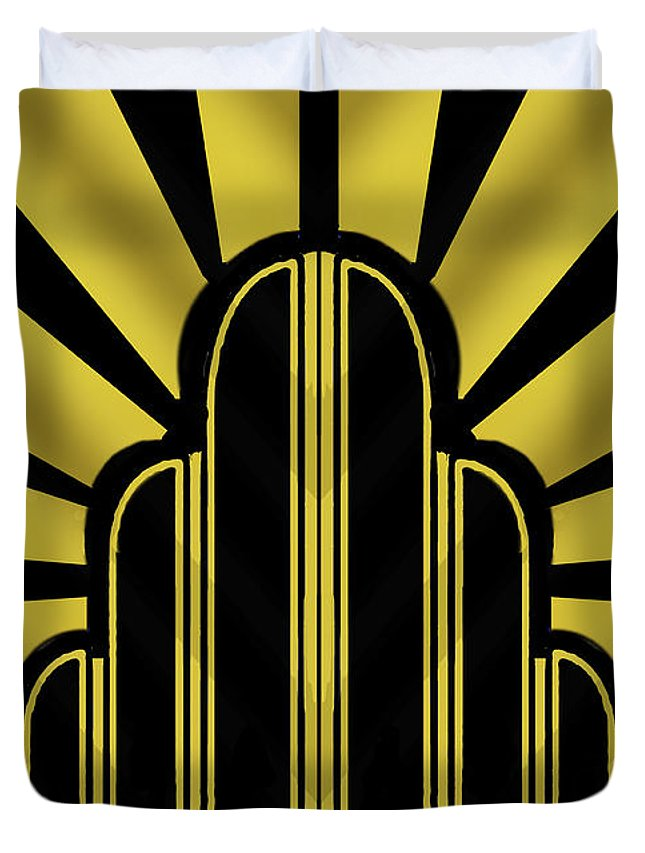 deco poster title duvet cover for sale by chuck staley