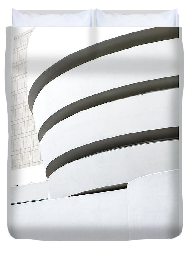 Duvet Cover featuring the photograph Art Museum by Sara Schroeder