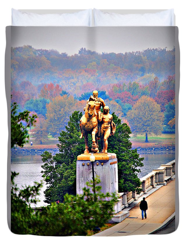 Washington Duvet Cover featuring the photograph Arts Of War In Fall 1 by Jost Houk