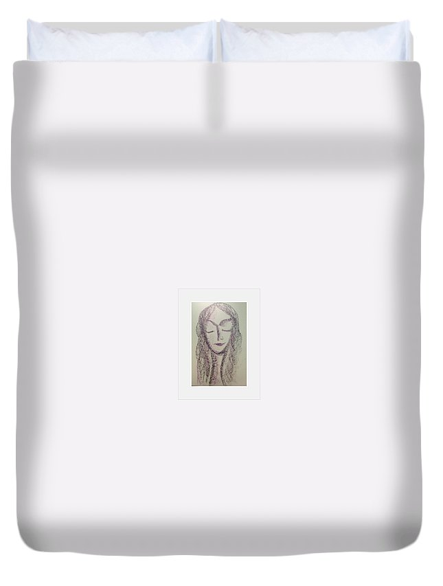 Woman Duvet Cover featuring the photograph Art Therapy 160 by Michele Monk