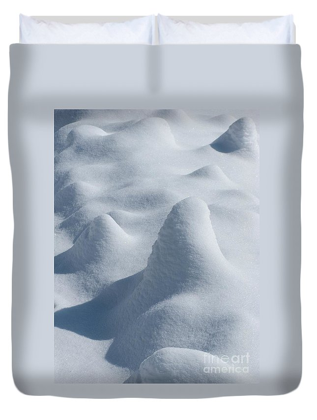 Snow Duvet Cover featuring the photograph Artful Snowfall by Ann Horn
