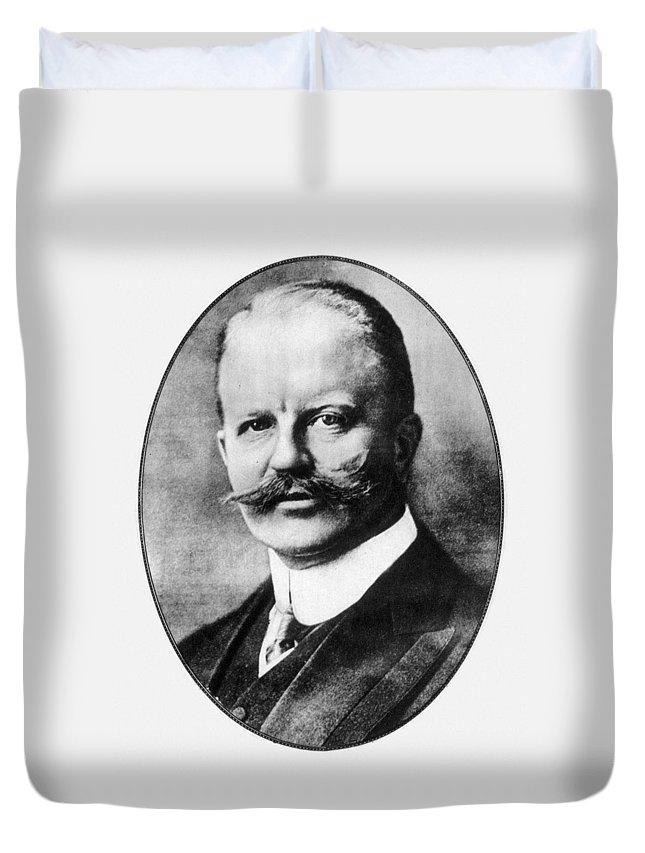 1916 Duvet Cover featuring the photograph Arthur Zimmermann (1864-1940) by Granger