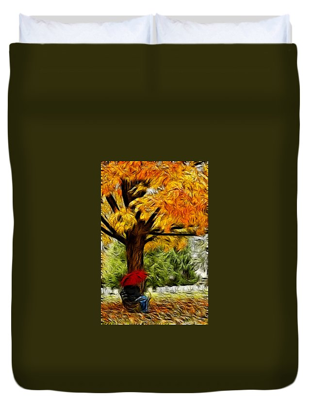 Graveyard Duvet Cover featuring the photograph Artistic Reflection by Don Johnson