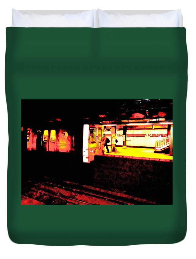 City Duvet Cover featuring the photograph Artistic Visions Nyc by Art Dingo