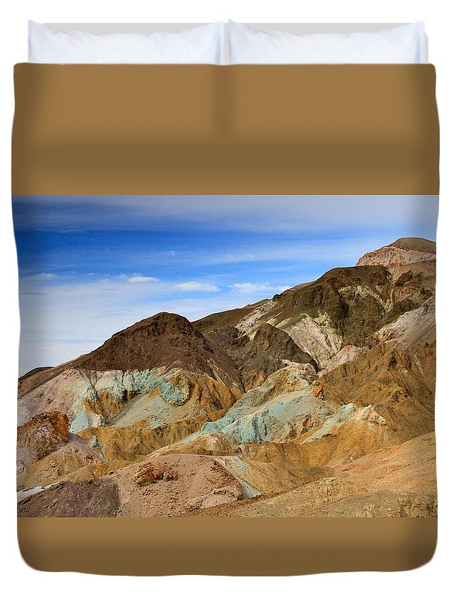California Duvet Cover featuring the photograph Artists Palette Death Valley National Park by Ed Riche