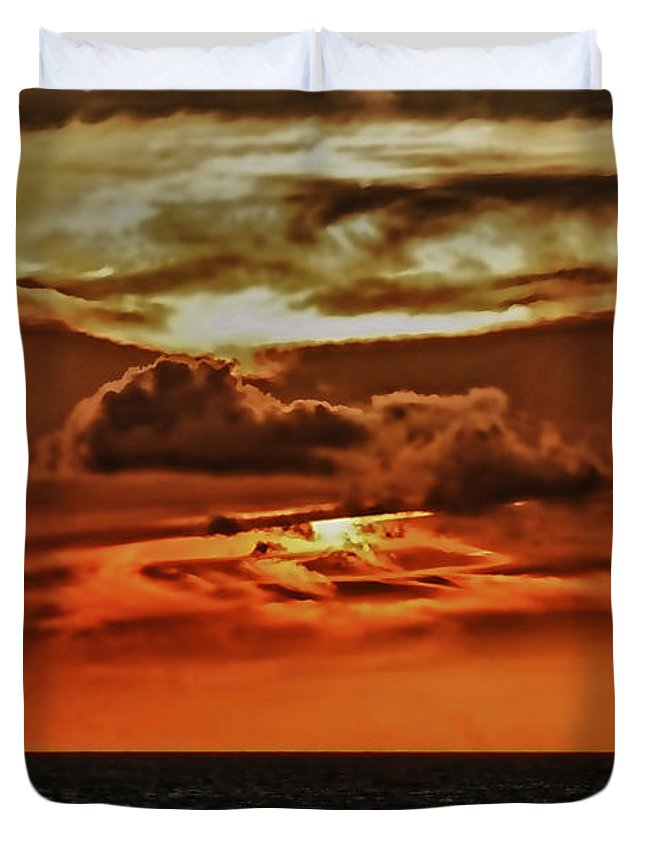 Ocean Scene Duvet Cover featuring the photograph As Far As The Eye Can See by Tom Prendergast