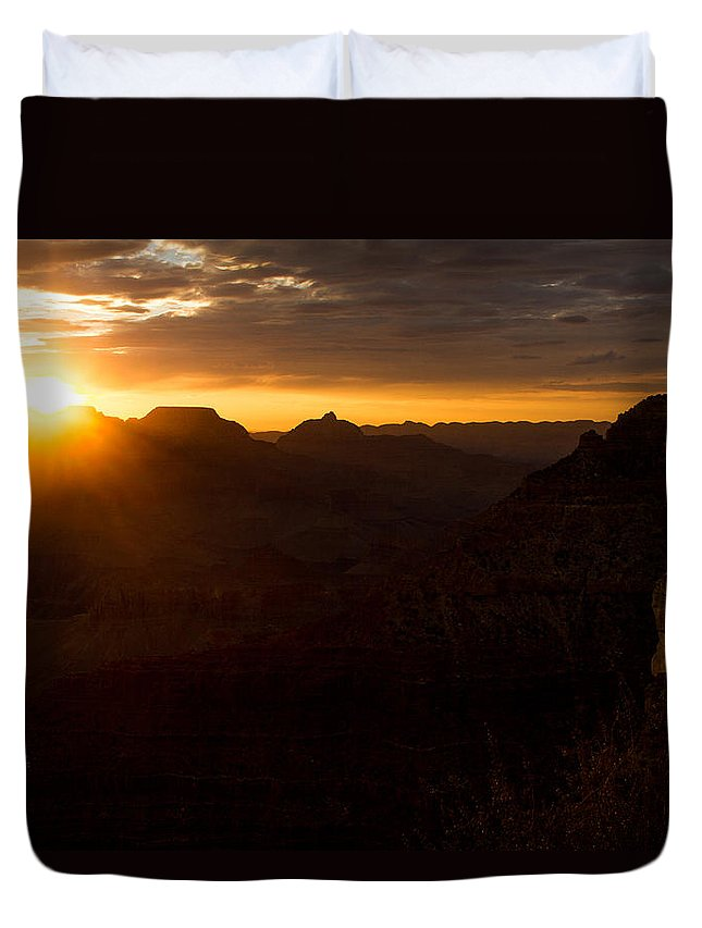 Sunrise Duvet Cover featuring the photograph As The Sun Rises by Kathleen Odenthal