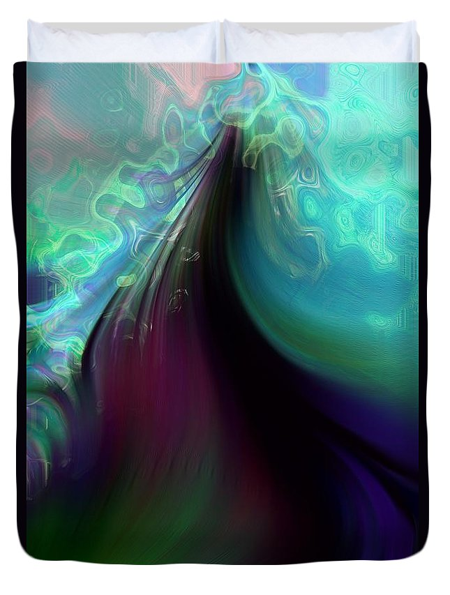 Abstract Duvet Cover featuring the photograph Ascending Into Cloud by Richard Thomas
