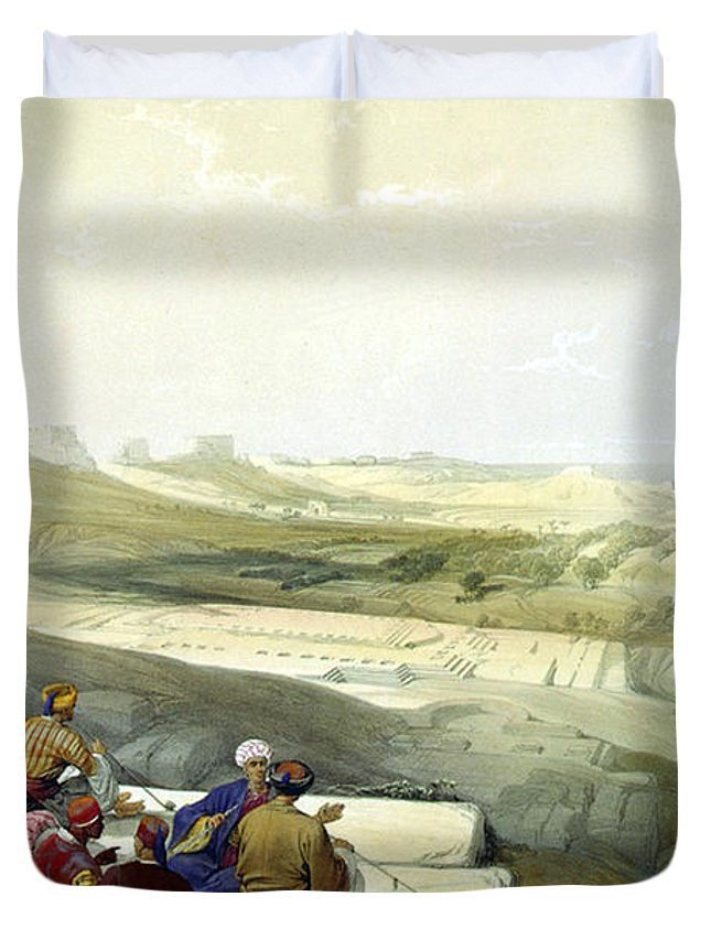 Askelon Duvet Cover featuring the photograph Askelon by Munir Alawi