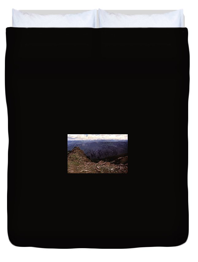 Mountains Duvet Cover featuring the photograph Aspen Highlands by Steve Archbold