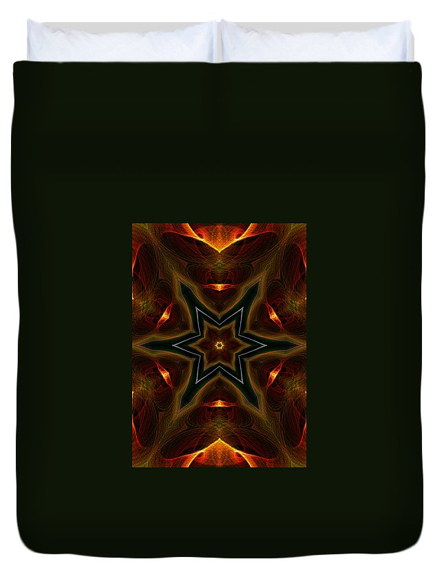 Series Echo Duvet Cover featuring the digital art Asteroid Impact by Owlspook