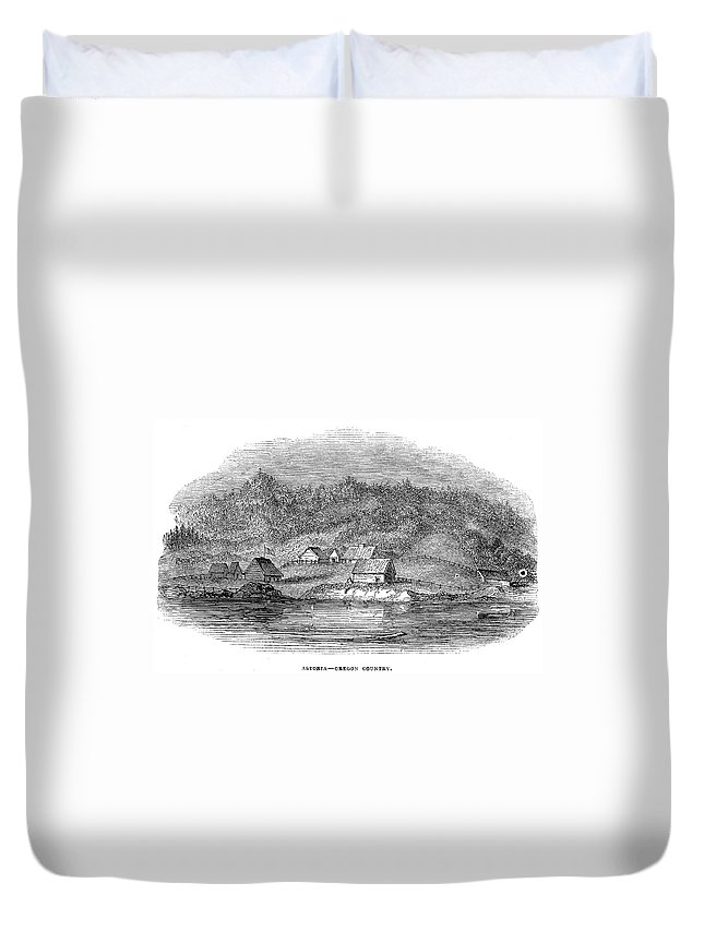 1843 Duvet Cover featuring the painting Astoria, Oregon by Granger