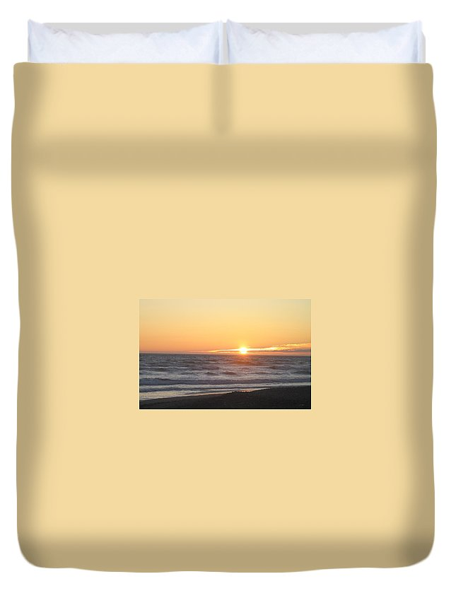 Sunset Duvet Cover featuring the photograph At Peace by Kimberly Maxwell Grantier
