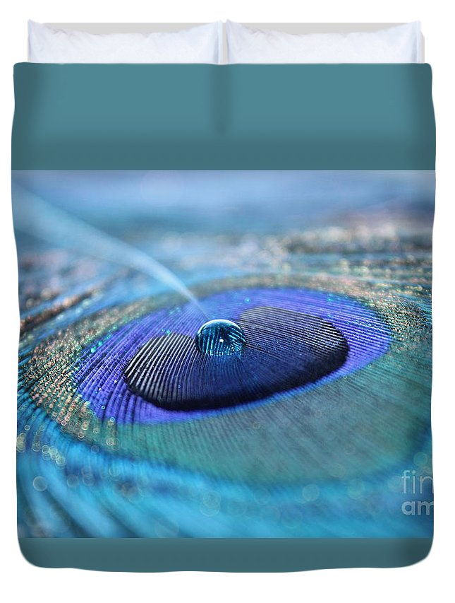 Feather Duvet Cover featuring the photograph At Peace by Krissy Katsimbras