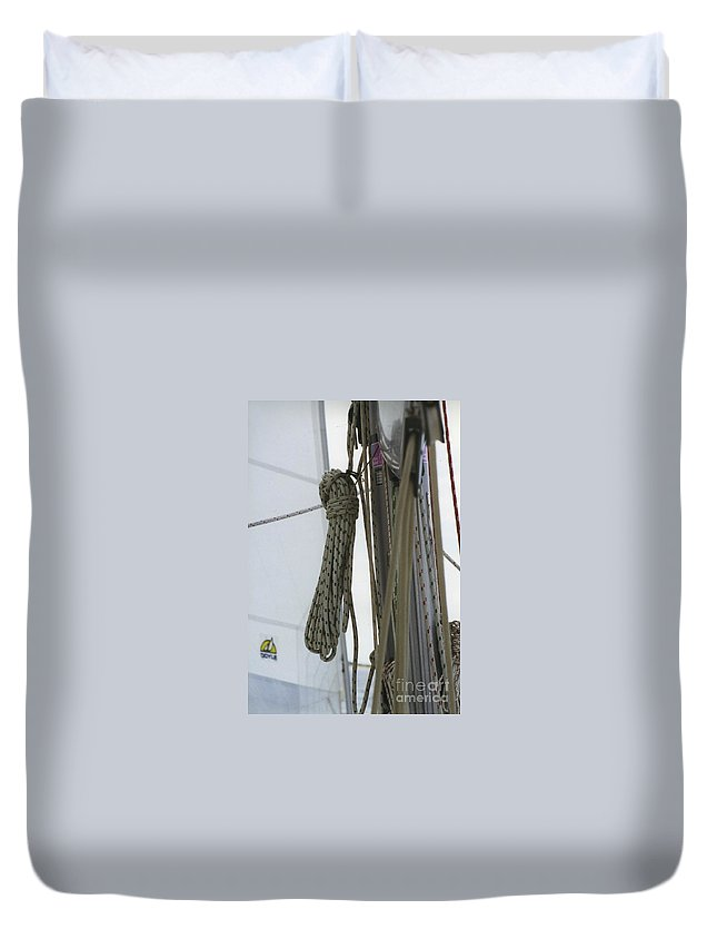 Sail Duvet Cover featuring the photograph At Sail by William Norton